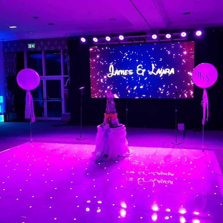 Led dance floor for weddings