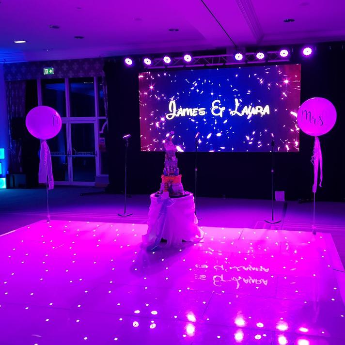 Led dance floor for weddings
