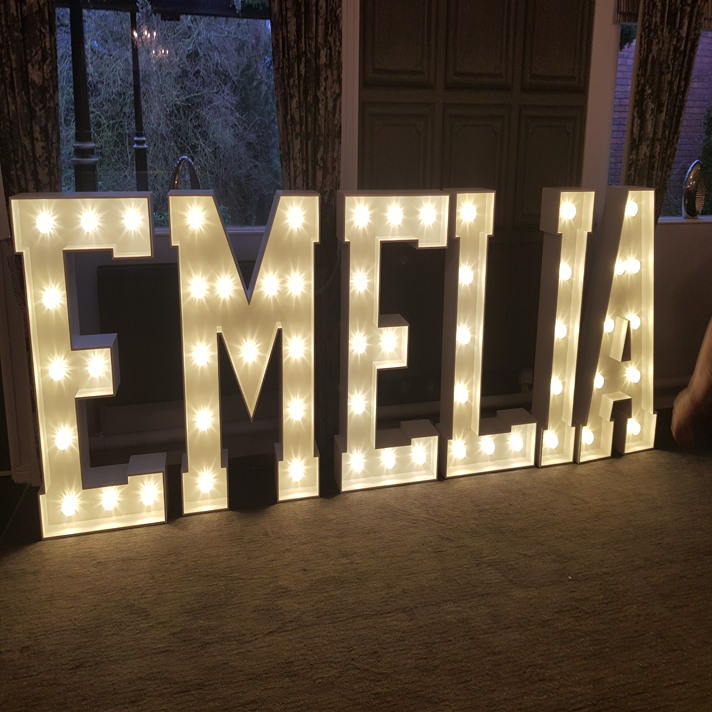 personalised led letter hire